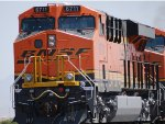 Very Brand New BNSF 6711 pushes a Hot Z eastbound in this close up shot with BNSF 7422 in front.
