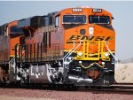 The California Sun Glistens off her Very Brand New BNSF Swoosh Logo Paint as BNSF 6894 leads a eastbound Z.