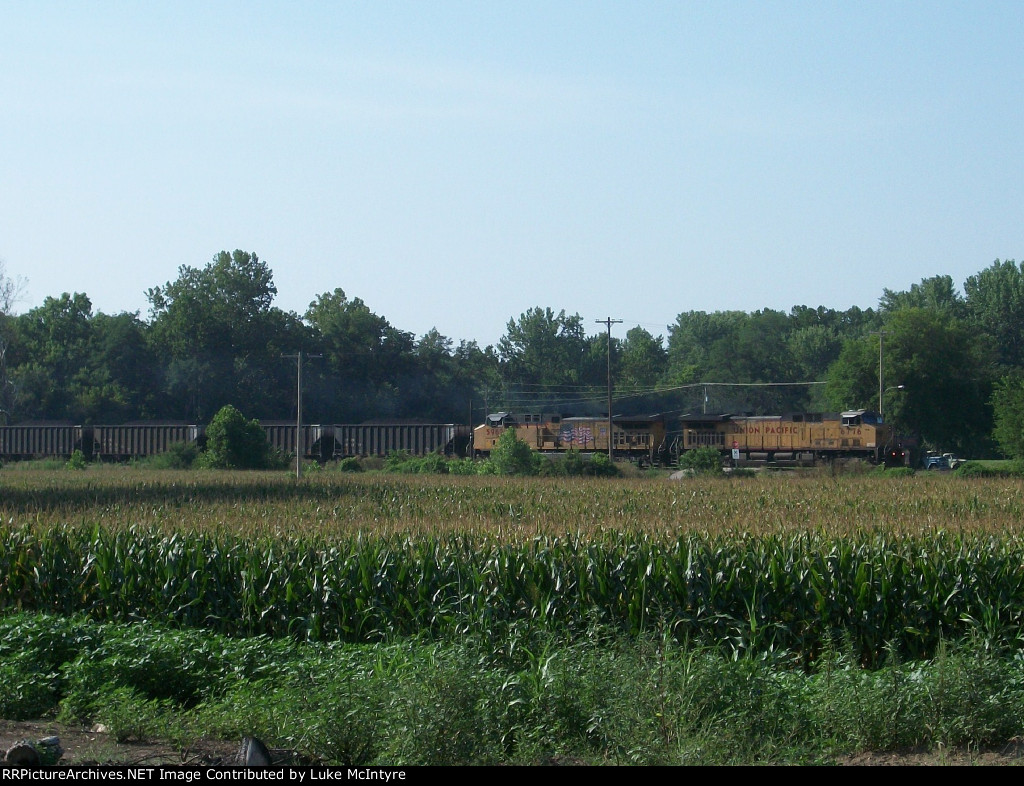 UP 6776 eastbound UP loaded coal train