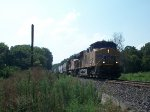 UP 7709 eastbound UP loaded grain train