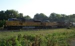 UP 8054 eastbound UP loaded grain train