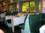 Amtrak dining car #8504 interior