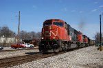 CN 5731 leads a loaded coal train south