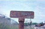 SAL RY boundary marker.