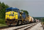 CSX 511 leads Q335-16 up the hill