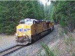 UP 7697 Leading an all GEVO-Powered Train