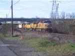 UP 5299 Under Bridge Construction
