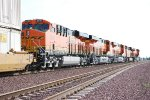 The Almost All C4 Z Train passes me by off BNSF 6894, BNSF 6899, BNSF 6738, BNSF 7917 (ES44DC), and The Lead Unit BNSF 6738 all head westward into the Setting Sun!!!