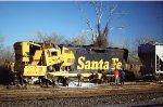 ATSF 2878, derailed runaway locomotive