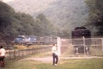 CR 6085 leads patched engines around the horseshoe curve