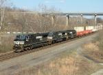 NS 21G west through Shafton, PA  4/9/09