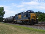 CSX 2708 leads todays local. Train ID is CSX D752.