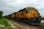 Westbound UP Empty Coal Train DPU Locomotives