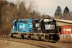NS SD40-2 3351 on the west slope