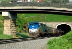 Amtrak P42 84 leads the westbound Pennsylvanian