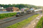 NS 9-40CW 9593 leads Roadrailer 242