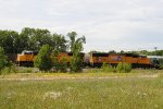 Empty ballast train