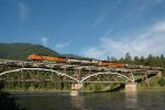 Westbound coal crossing the Clark Fork River