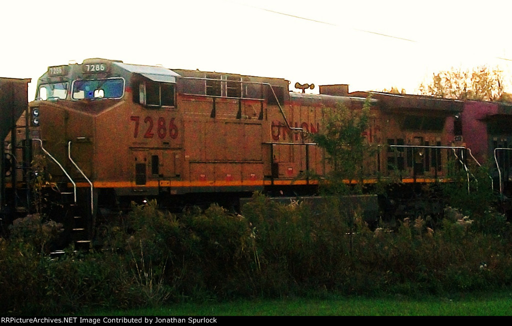 UP 7286, conductor's side