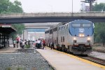 Amtrak Picks up Passengers at La Crosse Station