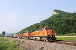 Eastbound BNSF Ethanol Passes by Goose Island with a very Rare 3rd Unit