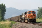 Eastbound BNSF Loaded Coal Passing by Goose Island