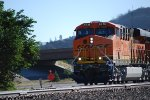 BNSF 6736 Pokes her Very Brand New BNSF Swoosh Logo Nose/Cab westbound towards the Flagstaff Crest as she heads towards BNSF Needles Depot for a crew change.
