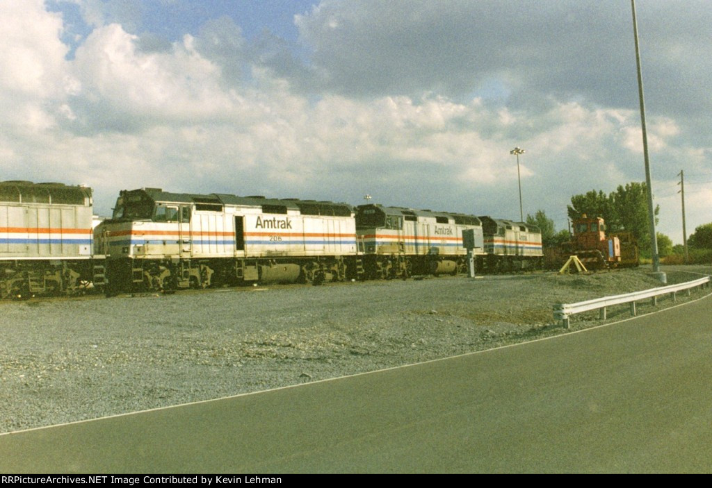 AMTK 206 and others at Albany-Rensselaer maintenance facility