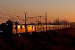 Last rays of the sun glint of Shoshaloza Meyl train
