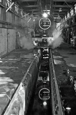 Reefsteamers 12AR 1535 is reflected in the pit water