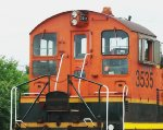BNSF 3535, close-up of rear view