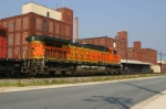BNSF 5665 Rolls Past The American Tobacco Factory