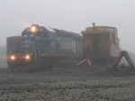 CSX 8805 in the Fog