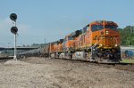 BNSF 7242 approaching Santa Fe Junction