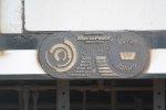 Metra #421 Builder's Plate