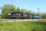 NS SB local heading back to Americus