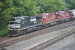 NS 9541 leads 68Q with2 CP units (RARE) Elephant style East through Mifflin