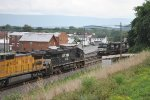 NS 7681 leads 64J East meeting unknown stack yrain at Mifflin