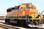 BNSF 3170 runs light westbound