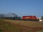 CP 5641 leads the red, white and blue