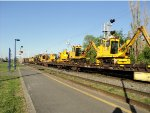 Convoy of Track Machinery