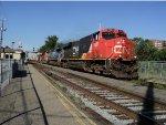 4 locos pullig lead by cn 2331 ES 44 dc