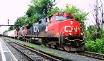 CN-2572  EF-c44-c going to Southwark yard with car coming from Tachereau yard Montréal