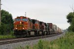 Eastbound BNSF Stack With a Couple Southern Visitors