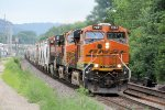 Westbound BNSF Freight Makes its Way Out of La Crosse Yard to Continue its Journey up River