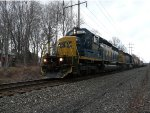 """CSX 8846 takes Q417 at 10 MPH due to a """"Smoker"""" at MP 27 on the River Line"""
