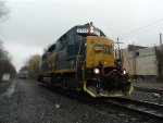 CSX 2721 works in the rain at Aluf!