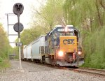 C712 waits at auto-21 on the River Line to begin work in Blauvelt!