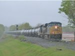CSX K418 comes thru Blauvelt in the rain!