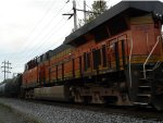 BNSF 7352 trails on CSX Q410 on the River Line!